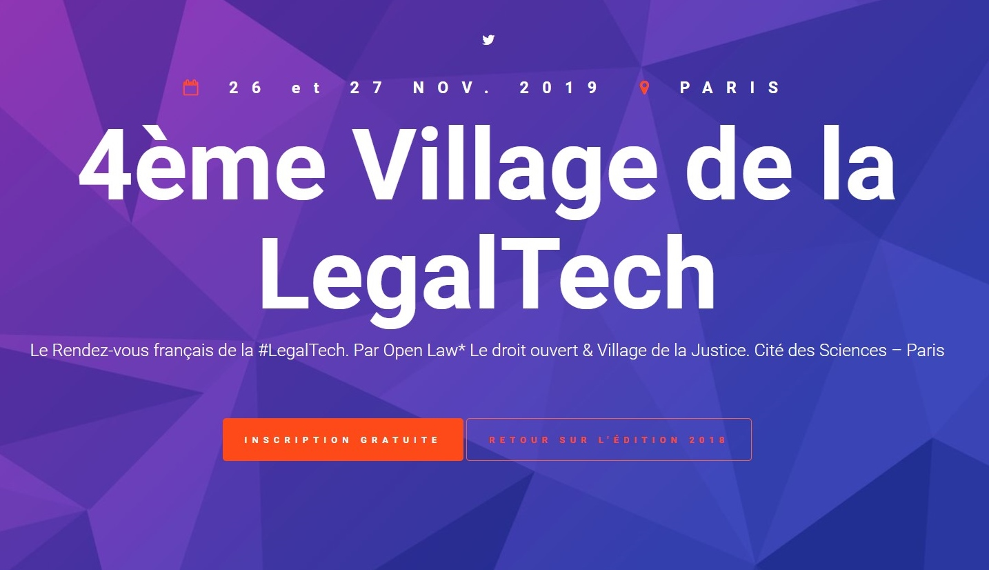 Participez au 4ème village de la Legal Tech